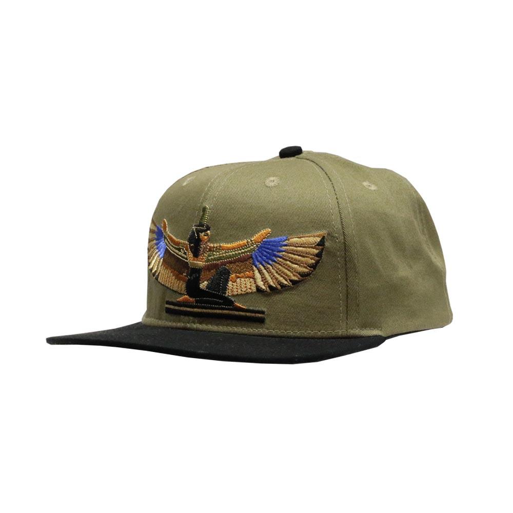 9904c4c45b0ff The Goddess of Egypt  Olive Green Snapback cap